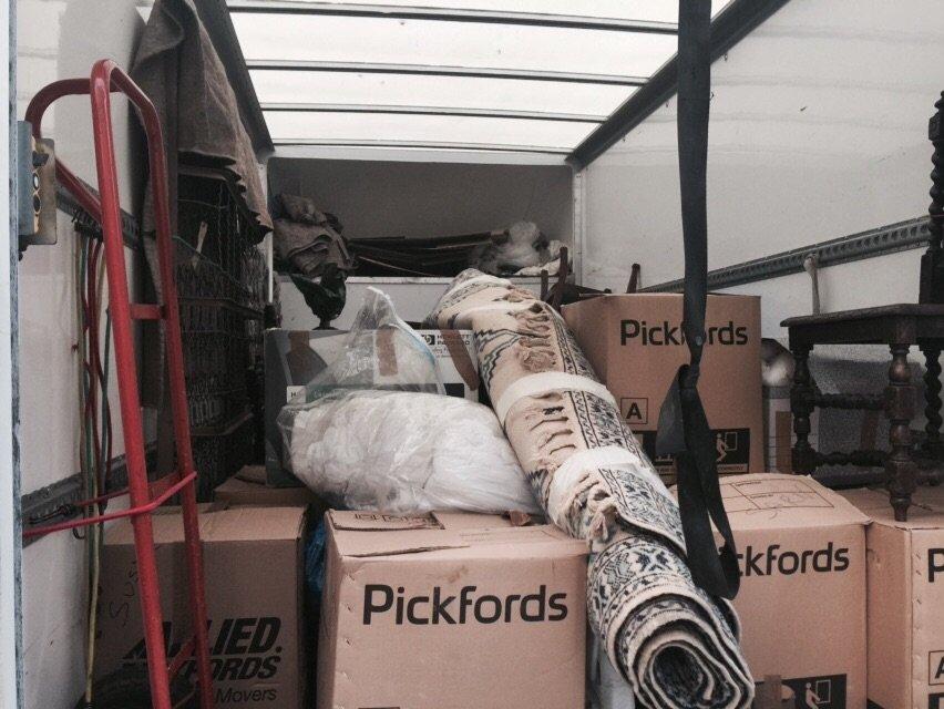 Removal packed in van