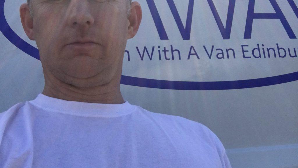 man with a van edinburgh in front of logo