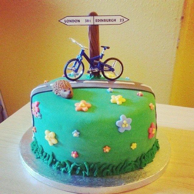 London - Edinburgh Birthday Cake