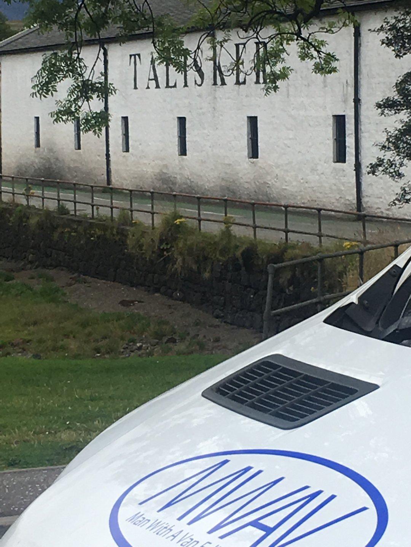 man with a van Edinburgh parked by Talisker