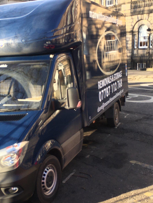 man with a van Edinburgh parked in Edinburgh