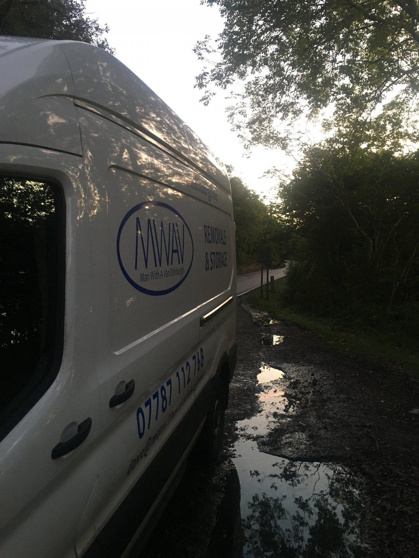man with a van Edinburgh parked by road