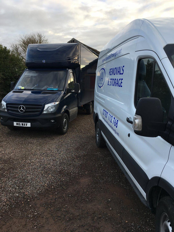 man with a van Edinburgh parked up removal vans