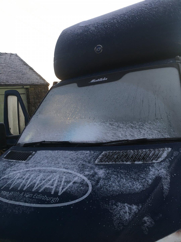 man with a van Edinburgh frosty van
