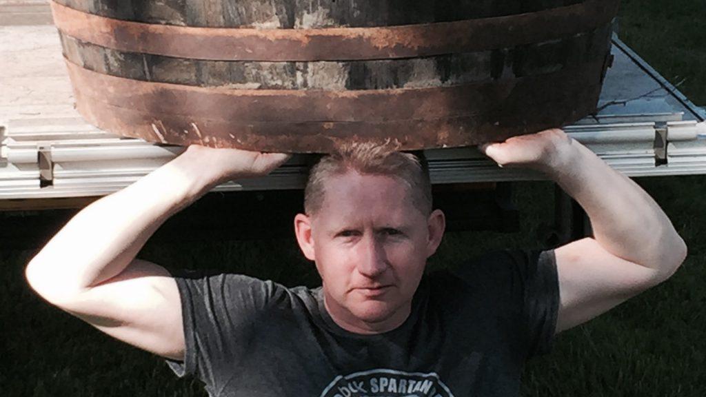 man with a van edinburgh lifting heavy barrel