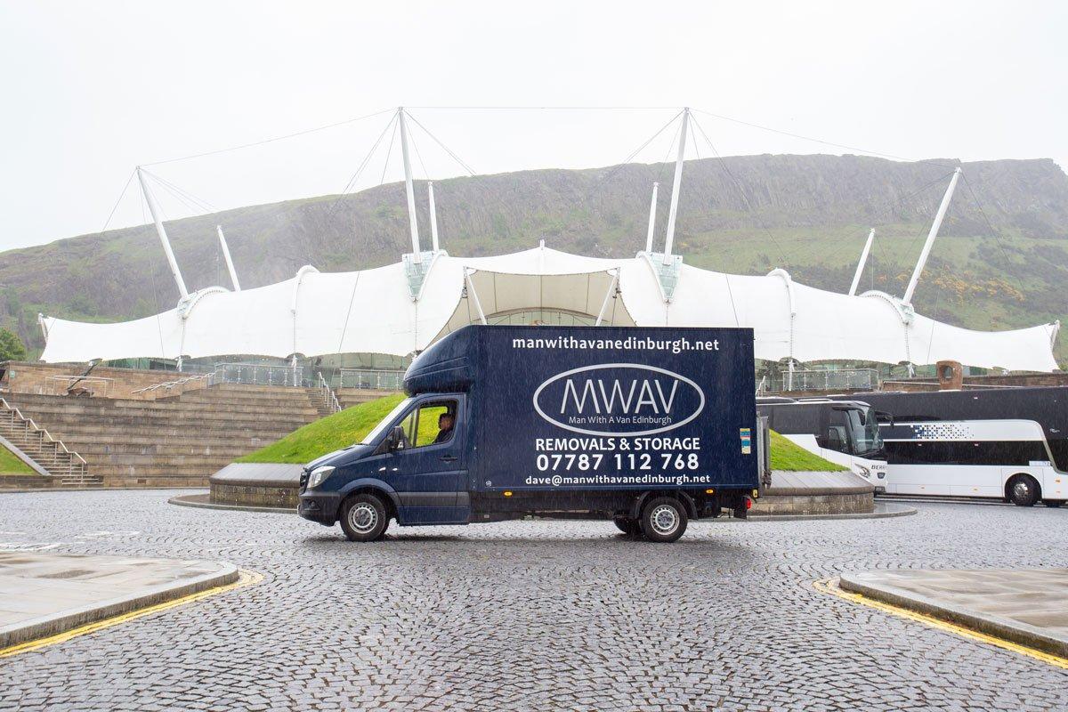 man with a van Edinburgh parked van
