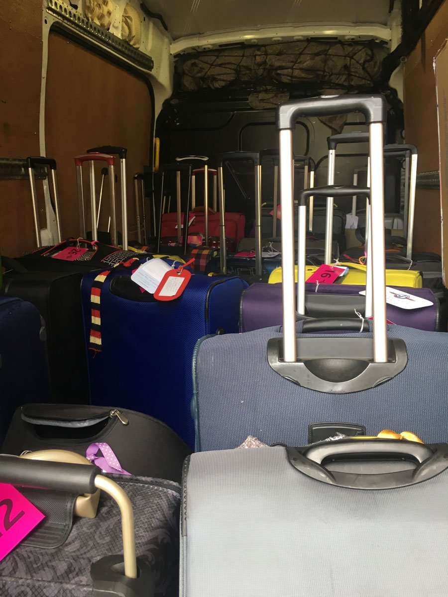Suitcases for student removals