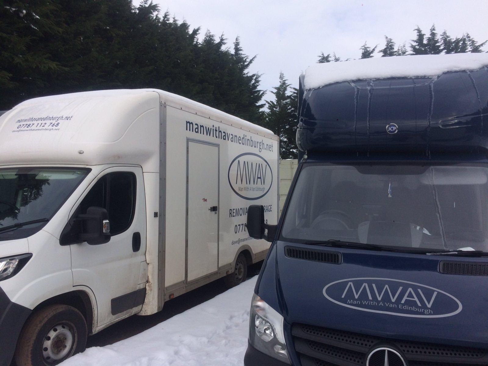 man with a van Edinburgh parked